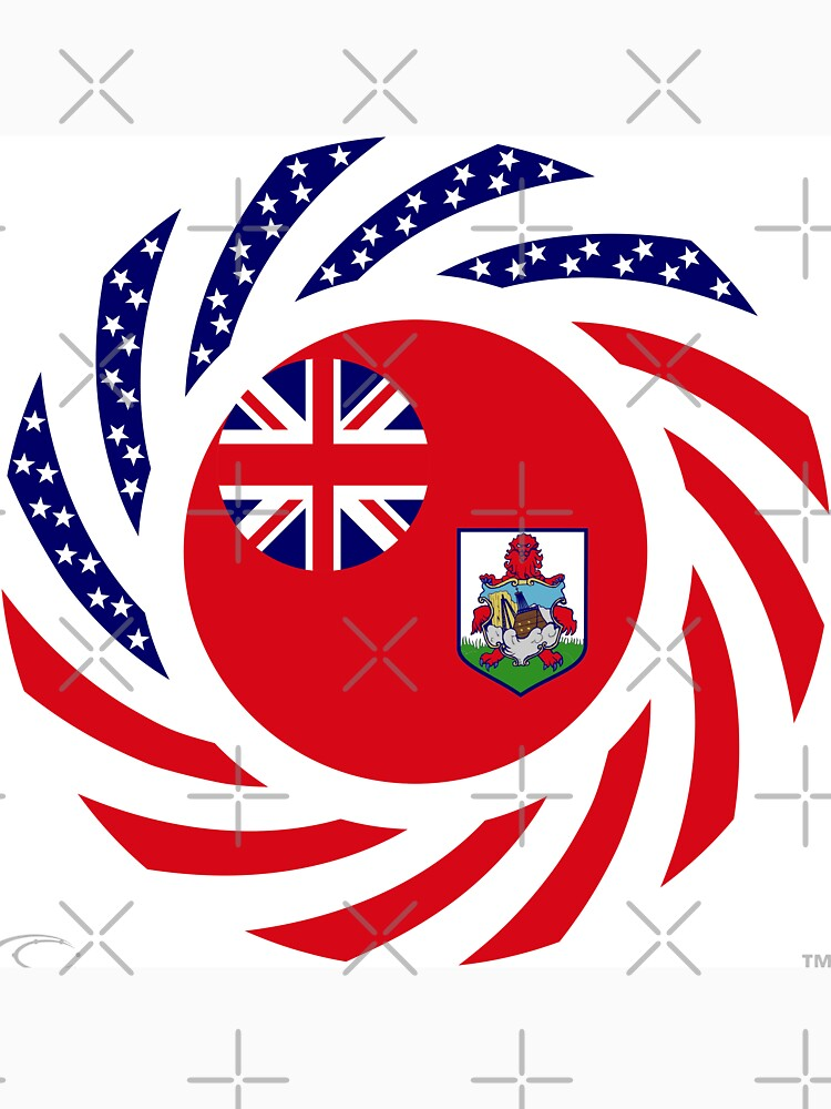 Bermudan American Multinational Patriot Flag Series by carbonfibreme