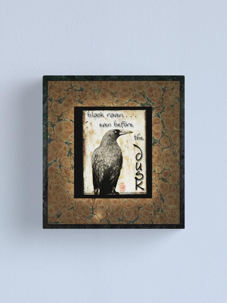 Alternate view of Raven Canvas Print
