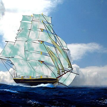 A Cloud of Sails on a Vintage Ship 1843 by ZipaC