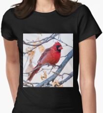 Male Cardinal  Womens Fitted T-Shirt