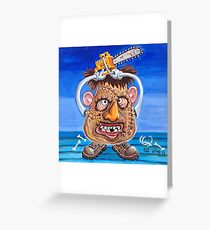 Mr. Leather Head Greeting Card