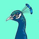 Peacock Portrait ( green ) by Adam Regester