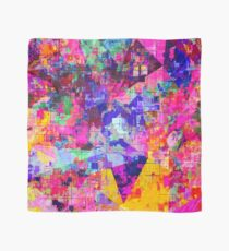 colorful psychedelic geometric splash painting abstract background in pink blue yellow orange green Scarf