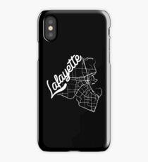 Lafayette, La Map-White  iPhone Case