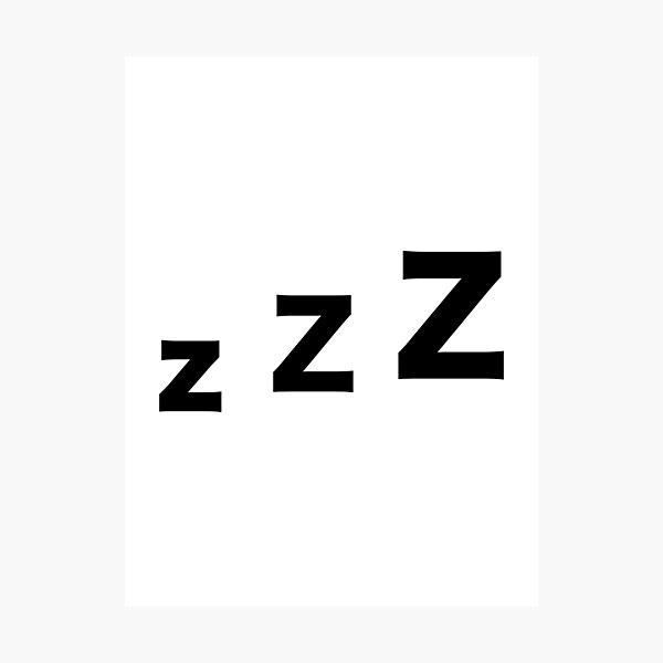 Sleep zzz Photographic Print