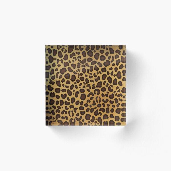 Leopard Cheetah animal spots Acrylic Block