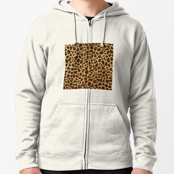 Leopard Cheetah animal spots Zipped Hoodie