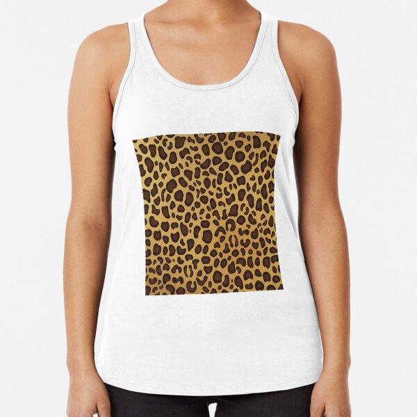 Leopard Cheetah animal spots Racerback Tank Top