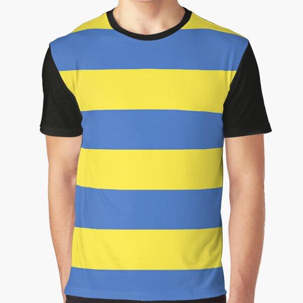 Camiseta Ness Earthbound - Rayas amarillas y azules Camiseta gráfica