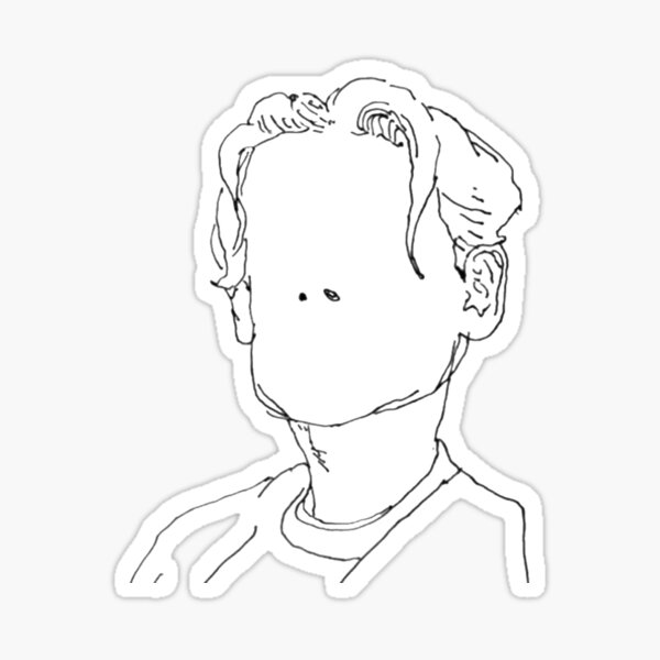 B&W Sketch - Bane's World Sticker