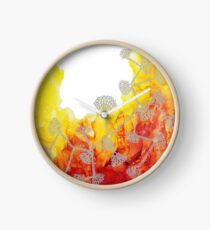 Flower Road_ Abstract Print Clock