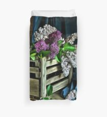 Lilac painting Duvet Cover