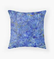 Blue Out Throw Pillow