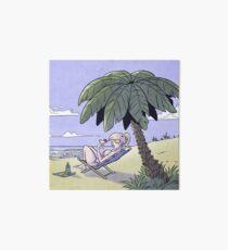 Sunny days - Enjoying the view Art Board Print