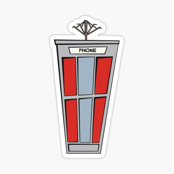 Bill and Ted's Phone Booth Sticker
