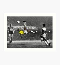 Brazil's Legend Pele Art Print