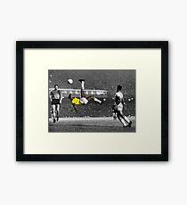 Brazil's Legend Pele Framed Print