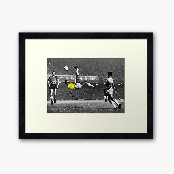 Brazil's Legend Pele Framed Art Print