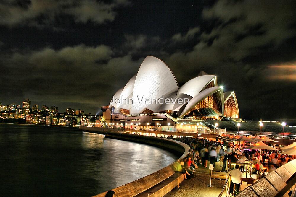 Sydney at night HDR by John Vandeven