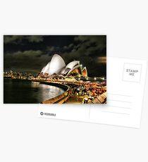 Sydney at night HDR Postcards