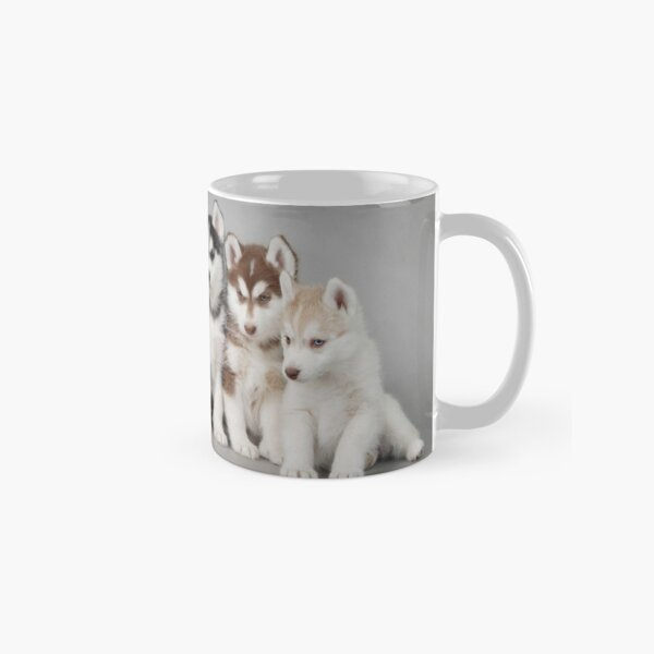 Six husky puppies Classic Mug
