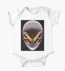 Alien Kopf Baby Body Kurzarm