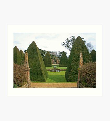 The Great Court Garden Art Print