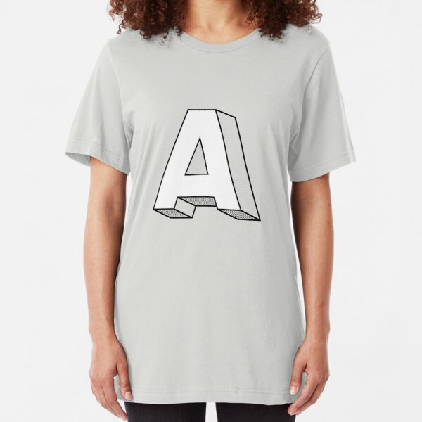 A sans serif with volume (36 days of type) Slim Fit T-Shirt
