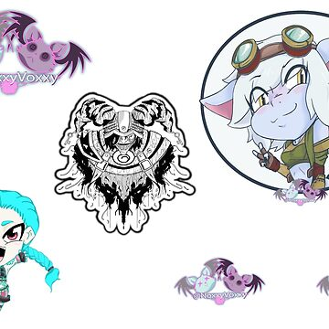 NoxxyVoxxy Season 1 Sticker Page League of Legends by NoxxyVoxxy