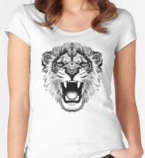 roaring lion t-shirt on lite Women's Fitted Scoop T-Shirt