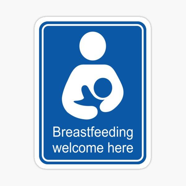 Breastfeeding welcome here rectangular Sticker