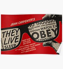 They Live alternative movie poster Poster