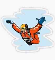Skydiving Pegatina transparente