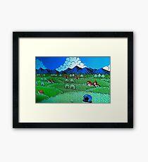 Mega Man 2 Ending Framed Print