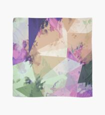 psychedelic geometric triangle polygon pattern abstract in pink green brown blue Scarf