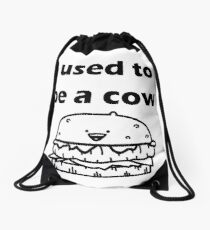 ADSF - I Used to Be a Cow Drawstring Bag