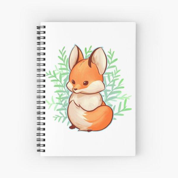 Cute small fox Spiral Notebook