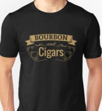 Bourbon and Cigars | Funny Cigar Gift | Cigar Gift For Men | Cigar Gift For Him | Cigar Gift for Dad | Unique Cigar Gifts | Cigar Shirt | Birthday Cigar Gift | Cigar Lovers  Unisex T-Shirt