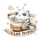 I love Pandas by mikekoubou