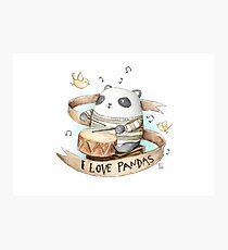 I love Pandas Photographic Print