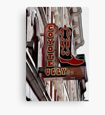 Coyote Ugly Saloon Sign Canvas Print