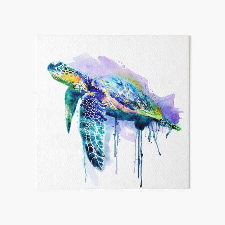 Watercolor Sea Turtle Art Board Print