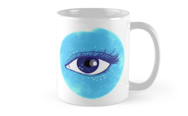 cosmic eye in blue by juliacreates