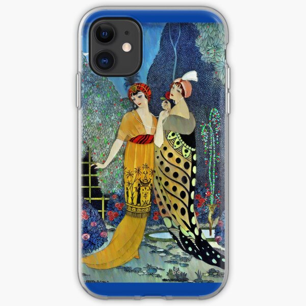 Art Deco Women in the Moonlight  iPhone Soft Case