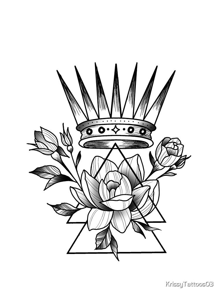 Rose and crown by KrissyTattoos03