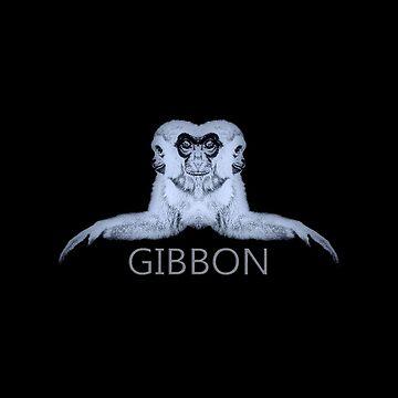 Gibbon Records Monotone Logo by GibbonRecords