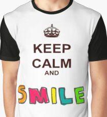 keep Calm Smile Graphic T-Shirt