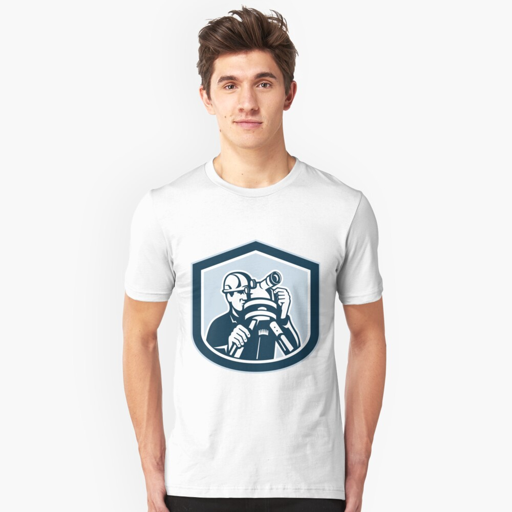 Surveyor Engineer Theodolite Camiseta ajustada