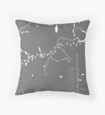 Boston Marathon Map 2014 Throw Pillow