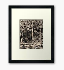 Woodcut Framed Print